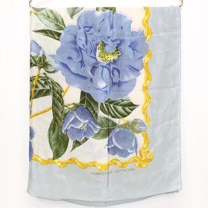 Vintage Adrienne Vittadini Large Floral Silk Scarf